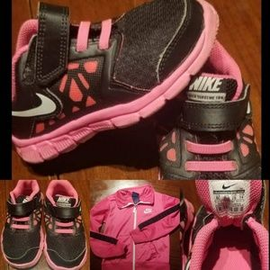 Nike shoes and Matching zip Sweatshirt